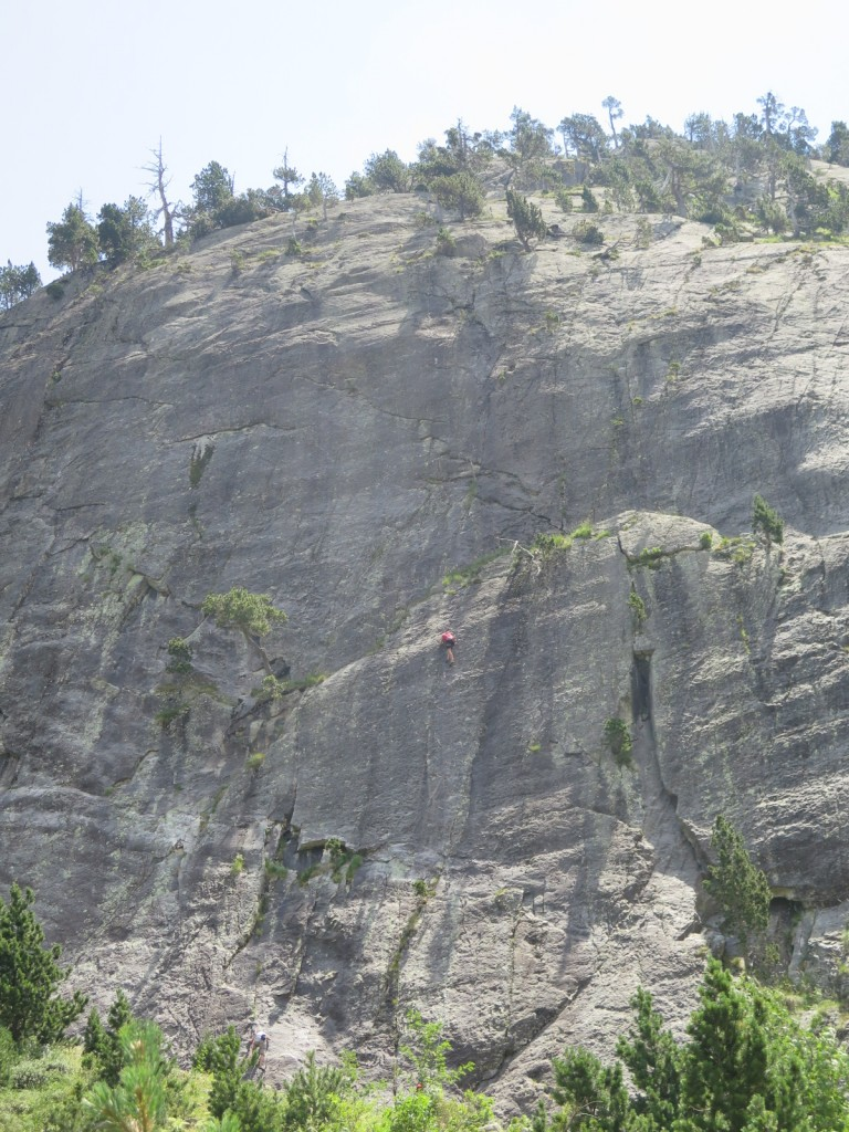 Climbing at