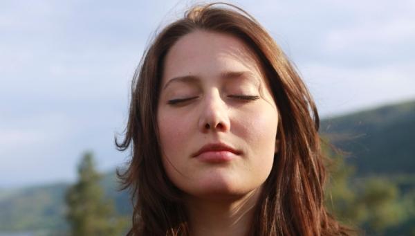 Kristine meditates