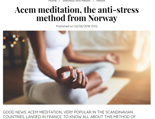 International women's magazine Marie Claire recommends Acem Meditation